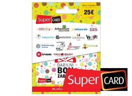 SuperCard Otroška 25 €