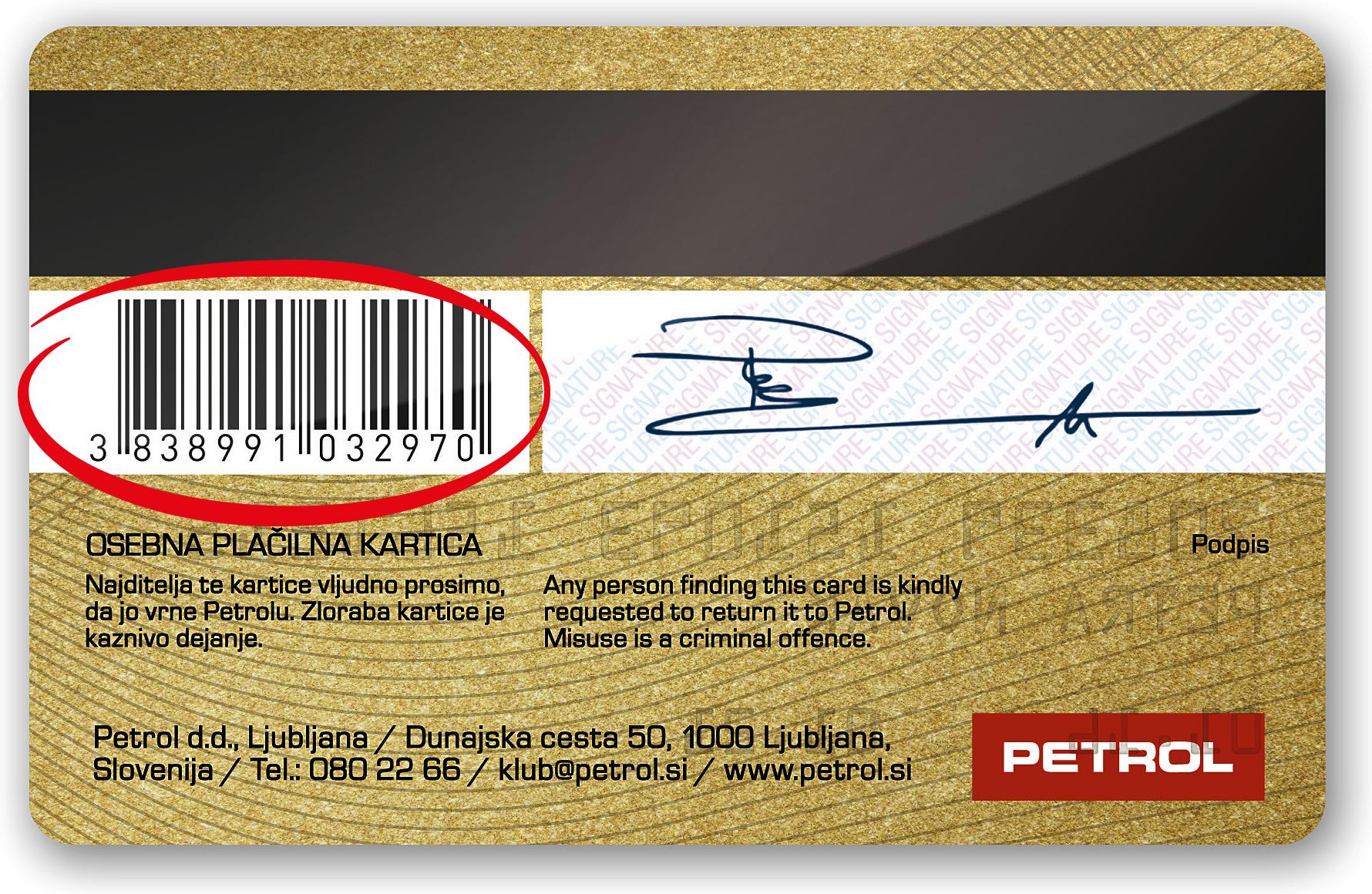 Petrol klub plačilna kartica